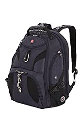 SwissGear SA1923 Noir Satin TSA Friendly ScanSmart Laptop Backpack - Fits Most 15 Inch Laptops and Tablets