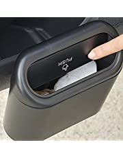Auto Prullenbak Opknoping Voertuig Vuilnisbak Stof Case Opbergdoos Zwart Abs Vierkante Persen Type Prullenbak Auto Interieur Accessoires