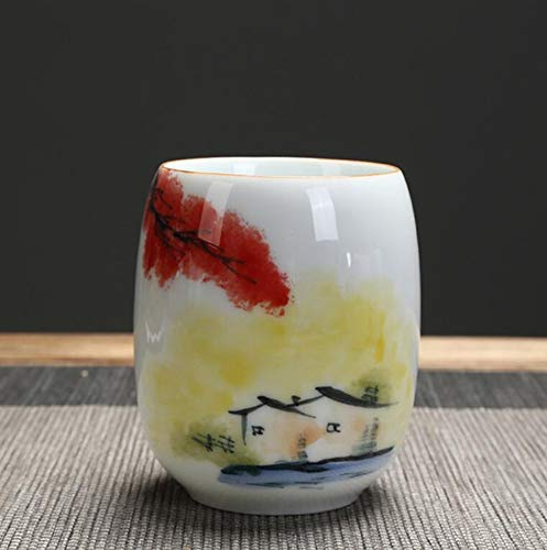 qnmbdgm theekop van keramiek met grote inhoud theekop van Chinese porselein Kung Fu 190 ml