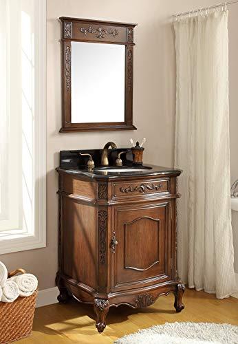 24' Powder Room Special - Debellis Bathroom Sink Vanity w/Matching Mirror BWV-047GT-MIR