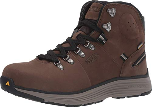 "KEEN Utility Men's Manchester 6"" Soft Toe Waterproof Work Construction Boots Shoe, Cascade Brown/Brindle, 12 Wide"