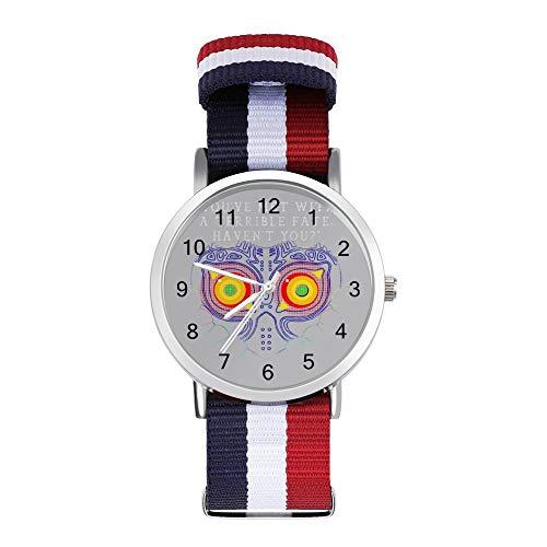 Youve Met with a Terrible Fate Havent You Legend of Zelda Majoras Maske Freizeit Armband Uhren Geflochtene Uhr mit Skala