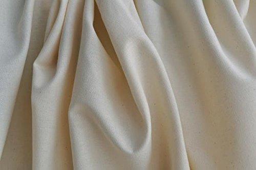 Organic Cotton Muslin Fabric - Natural - by The Yard