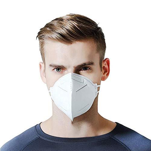 50 Stück CE-Zertifiziert 5-lagige Masken Staub- und Partikelschutz-Gesichtsmaske staubdichtes Mundvisier Komfortable Filterung> 99%