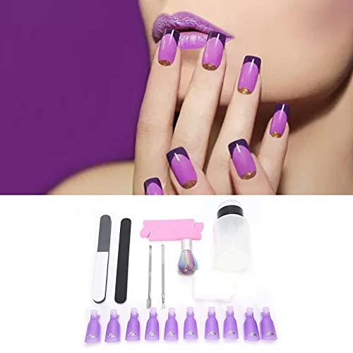 Kit de removedor de esmalte de uñas, kit de removedor de esmalte de uñas en gel, juego de removedor de gel para uñas para salones de uñas para el hogar