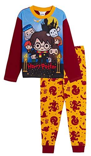 Harry Potter - Pigiama lungo per ragazzi e ragazze multicolore 7-8 Anni