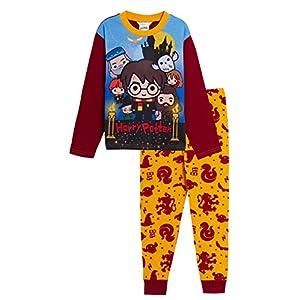 Harry Potter – Pijama completo para niños y niñas, diseño de Gryffindor, Hogwarts