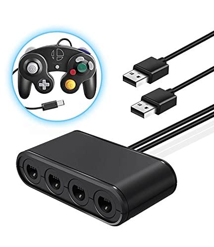 「2021秋発売」SiciMux ニンテンドースイッチ用GCコントローラ変換アダプタ GCコントローラー変換アダプター GCコントローラー 接続タップ 『GCツナイデントSW』 4ポート 最大8人同時にプレイ Switch/Wii U/PC用