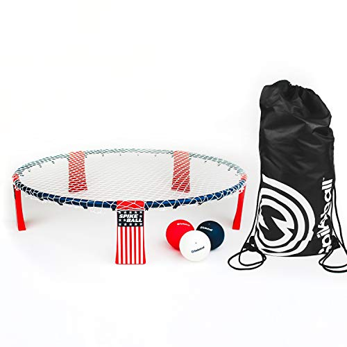 Spikeball Red, White, and Blue Standard 3 Ball Kit