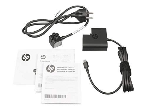 HP x2 210 G2 - Alimentatore di rete originale USB-C 45 Watt Elitebook 1030 G1 735 G5 745 G5 755 G5 830 G 840 G5 850 G5 Pavilion X2 10-N Spectre Pro 13 G1 X2 12-A X360 934739-850 863469-001 860210-850