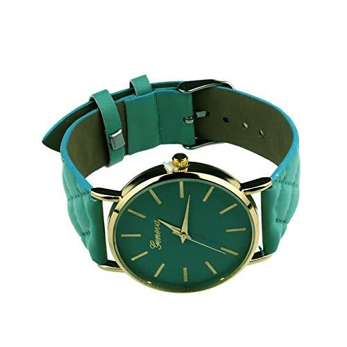 Uhren für Frauen Mode Genf hohe Qualität Armbanduhr Modische einzigartige Leder Uhrenarmband Uhr Frauen Quarz Kleid Uhr