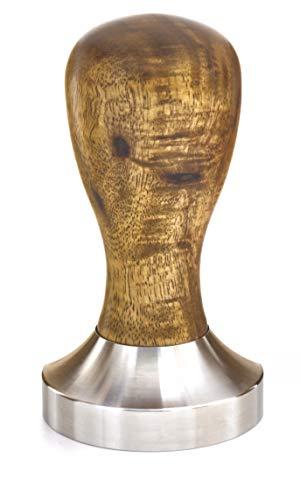 Lambda Coffee® Tamper 51 mm für Barista aus Akazienholz, Espresso Stempel aus Edelstahl und Holz zur Zubereitung mit Siebträgermaschine oder Espressomaschine, Espressostempel (Tamper 51mm)
