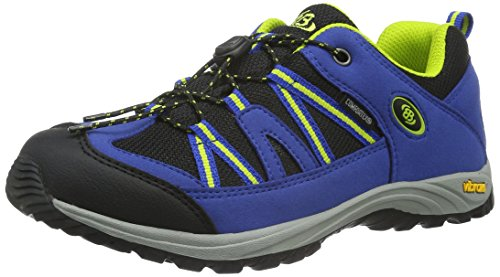 Bruetting Jungen Ohio Low Trekking- & Wanderhalbschuhe, Blau (Blau/schwarz/lemon), 36 EU (3 Kinder UK)