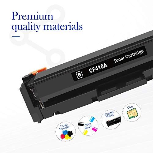 Valuetoner Compatible Toner Cartridge Replacement for HP 410A CF410A CF411A CF412A CF413A to use with Color Laserjet Pro MFP-M477fdw-M477fdn M477fnw-M452dn-M452nw M452dw M477 M452 Printer (4-Pack) Photo #2