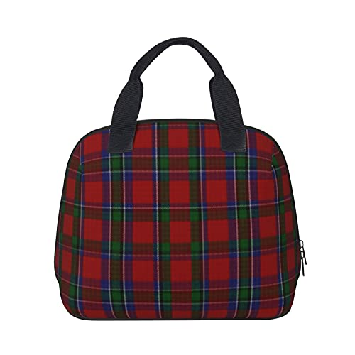 Elegante bolsa de almuerzo Sinclair a cuadros a cuadros impermeable aislada bolsa reutilizable para picnic almuerzo bolsa enfriadora para adultos y adolescentes