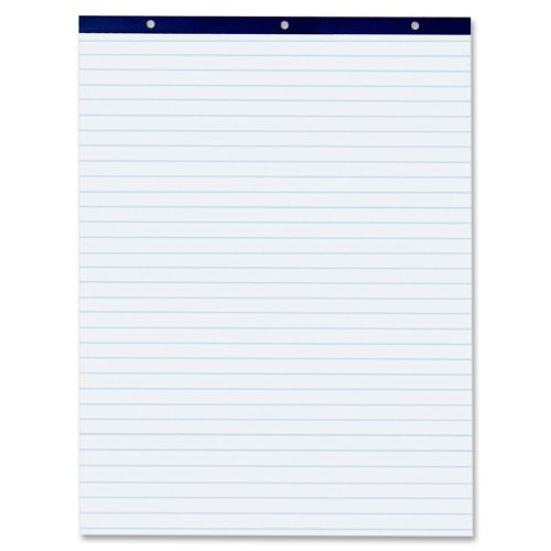 Pacon White 1In Ruled Easel Pad, 27 X 34 Inches, White, 50 Sheets (3386)