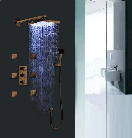 Why Choose ORB Sierra Multi Color Water Powered Led Shower with Adjustable Body Jets and Mixer-Wall ...