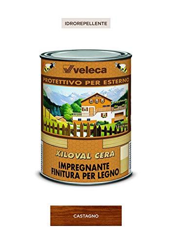 Veleca XILOVAL CERA Castagno - lt. 1 -  IMPREGNANTE PROTETTIVO SATINATO PER LEGNO DA ESTERNO
