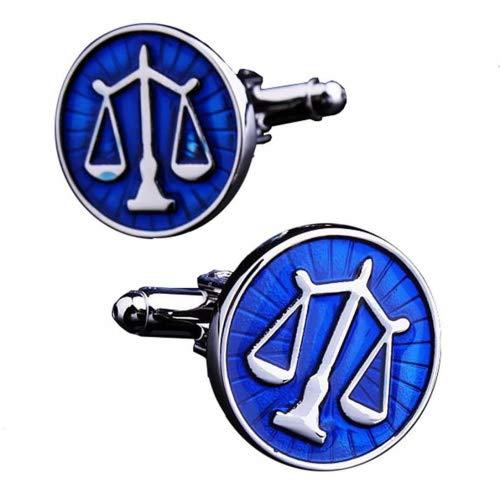 Gudeke Calidad de negocios y ocio Wild botón abogado Balanza de la Justicia Francés Gemelos de hombre