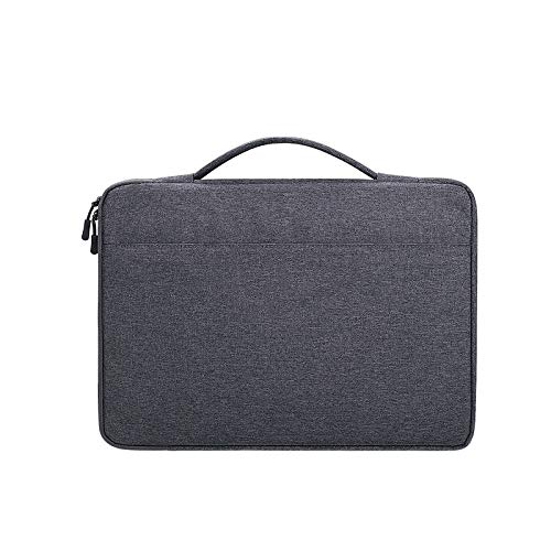 Laptop Bag, Oxford Cloth Waterproof Laptop Handbag for 13.3 inch Laptops, with Trunk Trolley Strap, Portable Notebook Computer Carrying Case Bag (Color : Dark Gray)