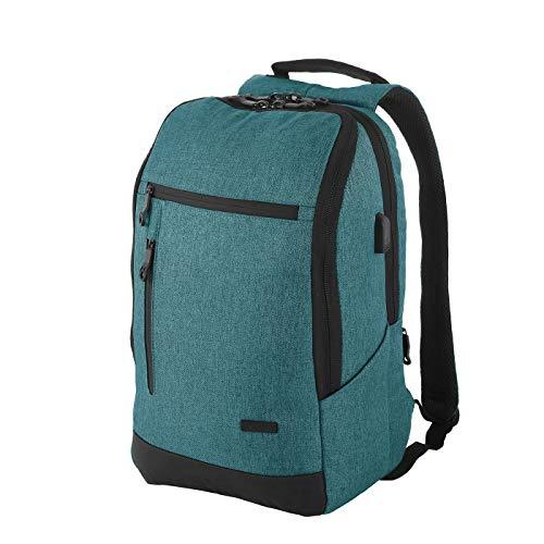 Rada College Cube RS/39, Laptop Notebook Rucksack USB Ladeanschluss, 15,6 Zoll, Daypack für Business und Arbeit, Damen und Herren, Unisex (Petrol)