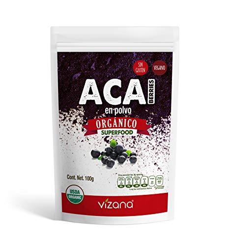 Acai Berrie 100% orgánica certificada en polvo 100g Vizana Nutrition