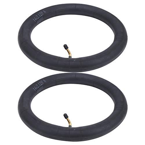 RiToEasysports 2 Piezas de neumático de Bicicleta de Goma butílica Resistente al envejecimiento con Tubo Interior de Bicicleta con válvula de Curva para Bicicletas de Carretera(16x2.125in)