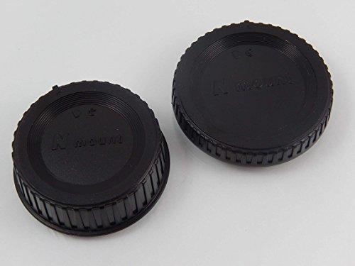 vhbw Set Objektivdeckel Gehäusedeckel schwarz für Kamera Nikon D3100, D3200, D3300, D3400, D4, D4s, D500, D5100, D5200, D5300 wie LF-4, BF-1B