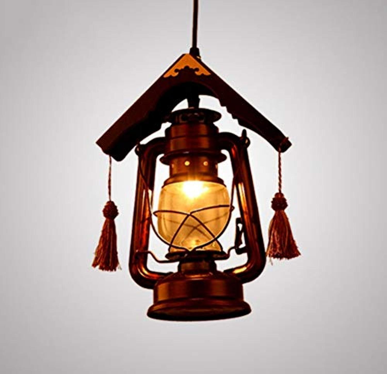 Pendelleuchte Edison E14 Nostalgisches Holz Restaurant Droplight