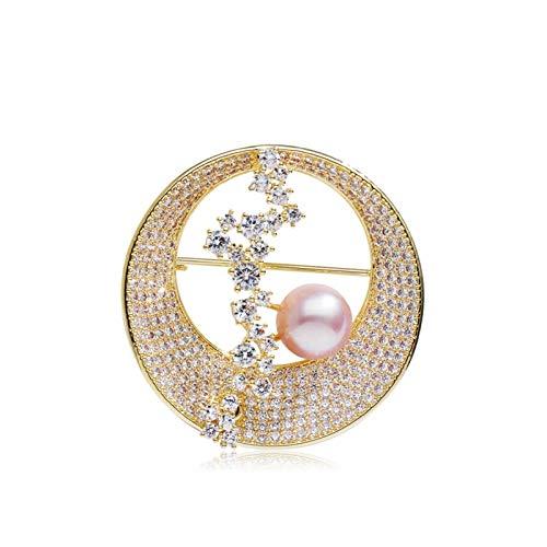 zlw-shop Broches Simplicity Broche Faux Pearl Broche Pins, Tops Bufanda Broche, para Ropa para Damas Partido de Bodas de casa (Oro/Plata) (Color : A)