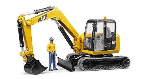 Bruder 02467 Cat Mini Excavator with a Worker
