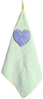 Gysad 2pezzi strofinacci in microfibra ultra assorbente cuore modello piatto asciugamani panni di pulizia anti pelucchi canovaccio per cucina