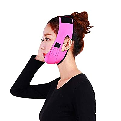 Thin Face Bandage, Double Chin Remover V-Line Face Shapes Chin Cheek Lift Up Facial Lifting Belt Face Massage Tool, Suitable for Women and Girls (3#) from Zyyini