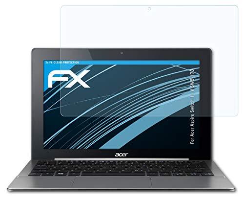atFolix Schutzfolie kompatibel mit Acer Aspire Switch 11 V SW5-173 Folie, ultraklare FX Bildschirmschutzfolie (2X)