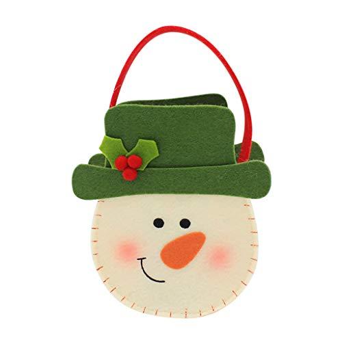 ITCHIC Sacchetto di Secchi Natalizi per La Casa in Rete con Dispenser per La Conservazione della Spesa Borsa per Secchiello da Elfo di Natale Borsa per Caramelle Borsa per Regali di Natale