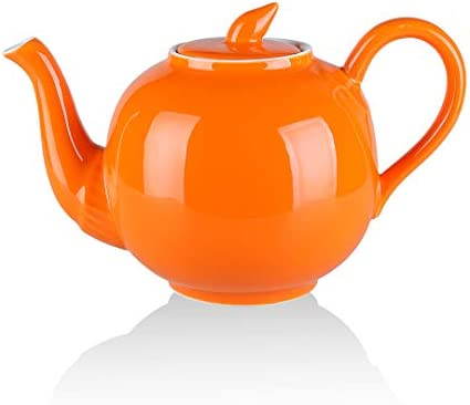 Yelife Porcelain Teapot 40 Ounce Ceramic Tea Pot with Lid and Large Handle Large Enough for product image
