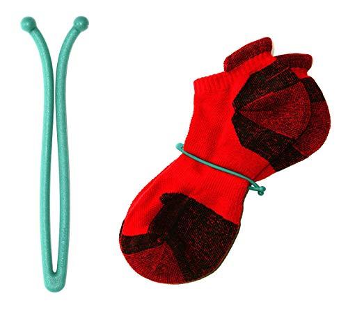 zuzu New Innovative Sock Lasso Sock Clips Locks for Laundry (10 Pcs) Keep Socks Paired in Washer Dryer (Aqua)