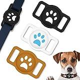 Coholl Funda protectora compatible con Apple AirTag Funda, [3 unidades] Funda de silicona para GPS Finder Collar Perros Antipérdida Pet Loop Holder Case para Gato Perro Collar Niños Personas Mayores