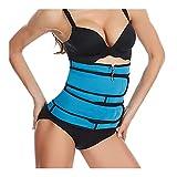 JINSUO Yiyuntian Corset Body Shaper Waist Belt Women Underwear Modeling Strap Shapewear Tummy Fitness Corset (Color : B blue, Size : M)