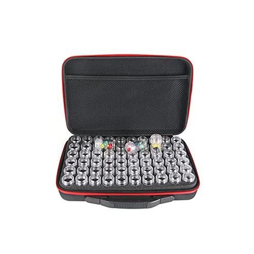 KAERMA 60 Flaschen Diamant Malerei Unterdiamantflasche Stickerei Box Zubehörkasten Transparent Kunststoff Aufbewahrungsbox Tasche mit Flasche Kunsthandwerkspeicherung. (Size : Rose 60 Cells)