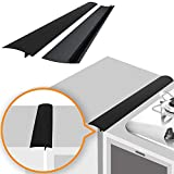 Linda's Silicone Stove Gap Covers (2 Pack), Heat Resistant Oven Gap Filler Seals Gaps Between Stovetop and...