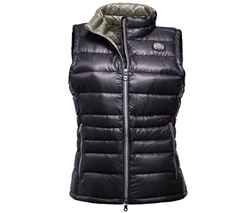 YETI Care W's Lightweight Down Vest Black/charcoalgrey XL