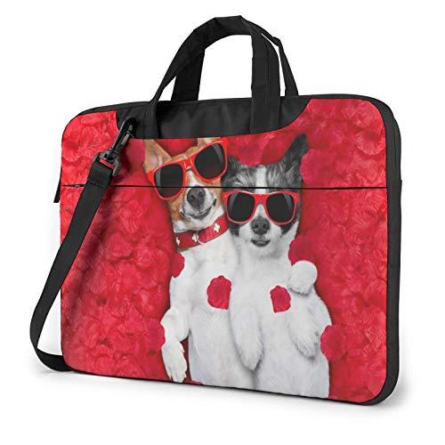 Love Valentine's Day Laptop Shoulder Messenger Bag,Laptop Shoulder Bag Carrying Case with Handle Laptop Case Laptop Briefcase 13 Inch Fits 13 inch Netbook/Laptop