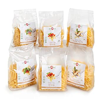 isiBisi Gluten Free Pasta Sampler - Made with Rice and Corn Flour - Quality Authentic Gluten Free Noodles - Vegan Non-GMO Bulk Pasta - Made in Italy
