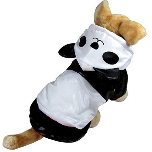 Selmai Costume de panda en duvet pour petit chien, chat, chiot Taille XL