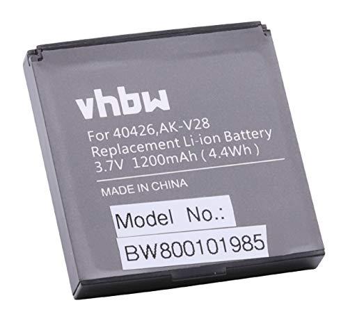 vhbw Li-Ion Akku 1200mAh (3.7V) für Seniorentelefon, Handy Emporia Talk, Talk Premium, Talk Plus wie 40426, AK-V28, AK-V29.