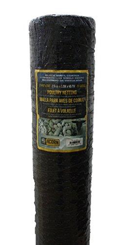 Acorn International PNVC148150 Poultry Netting, 1' x 48' x 150', Black