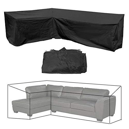 Fictory Gartenmöbel Eck Sofa Set Bezug, L-förmige Linke Seite kurz, 200x270x90cm/215x215x80cm, schwarz, wasserdicht Allwetterschutz im Freien(215 * 215 * 80cm)