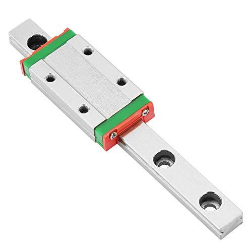 100 mm MGN9H Guía lineal en Miniatura Carril Guía Ancho de 9 mm + Bloque Deslizante para Impresora 3D y Máquina CNC