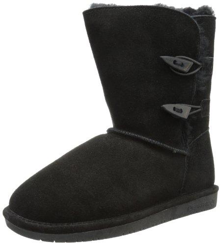 BEARPAW Women's Abigail Winter Boot, Black, 9 M US